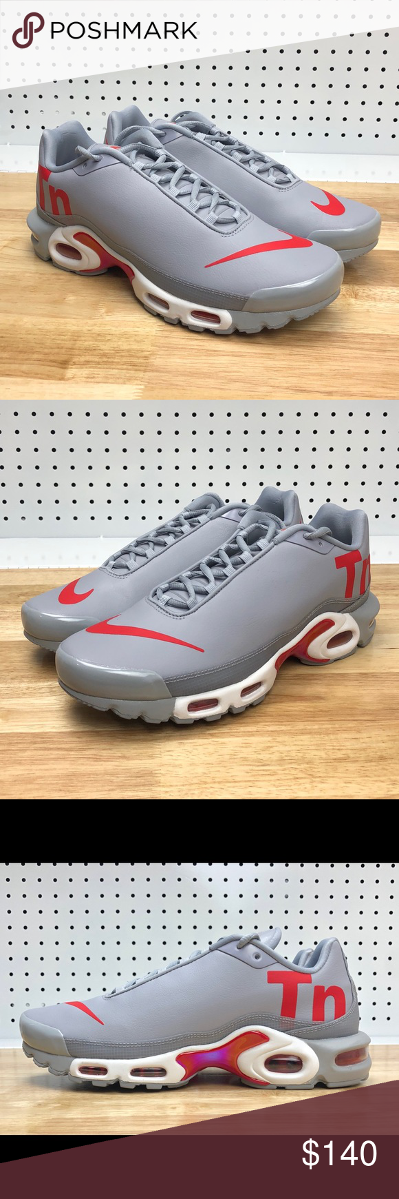 9ee41d817cb1 Nike Air Max Plus TN Mercurial Wolf Grey Red Sz 11 Nike Air Max Plus ...