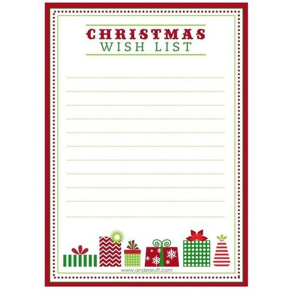 Christmas wish list ❤ liked on Polyvore featuring home, home - christmas wish list paper