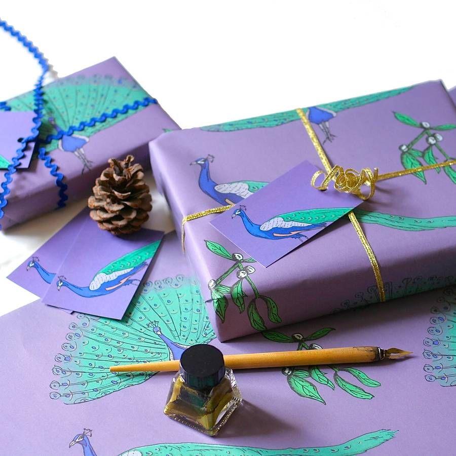 Peacock Christmas Wrapping Paper  #christmas  #wrappingpaper  #christmaswrappingpaper  #christmasgiftwrap