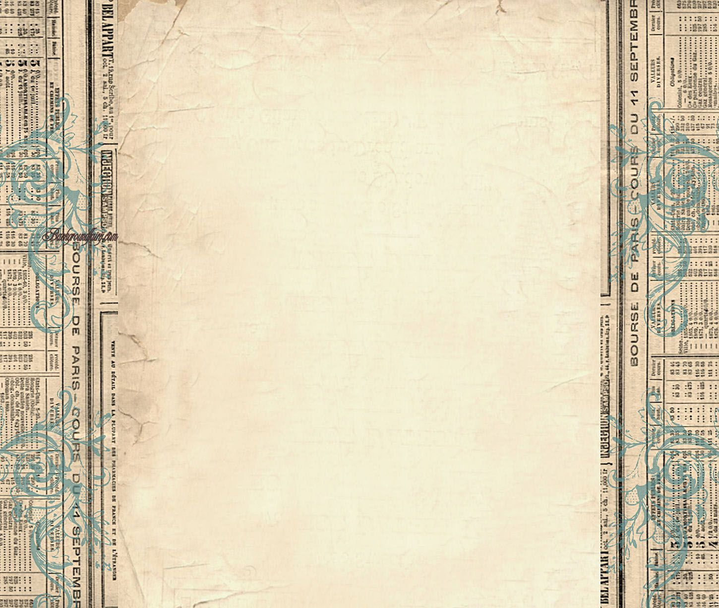 free border templates |  column blog background - vintage