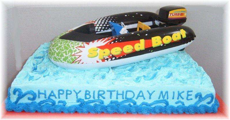 Speedboat Cake Google Search Cake Happy Birthday Mike