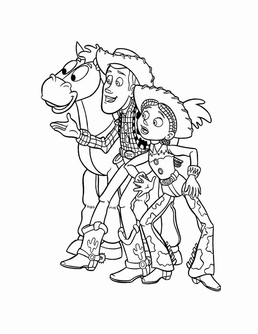 Toy Story Coloring Lovely Jessie Coloring Pages Printable Toy Story Coloring Pages Cartoon Coloring Pages Disney Coloring Pages