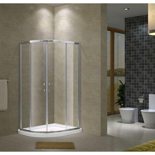 Jade Alyssa Neo Round Shower Door With Base Shower Doors