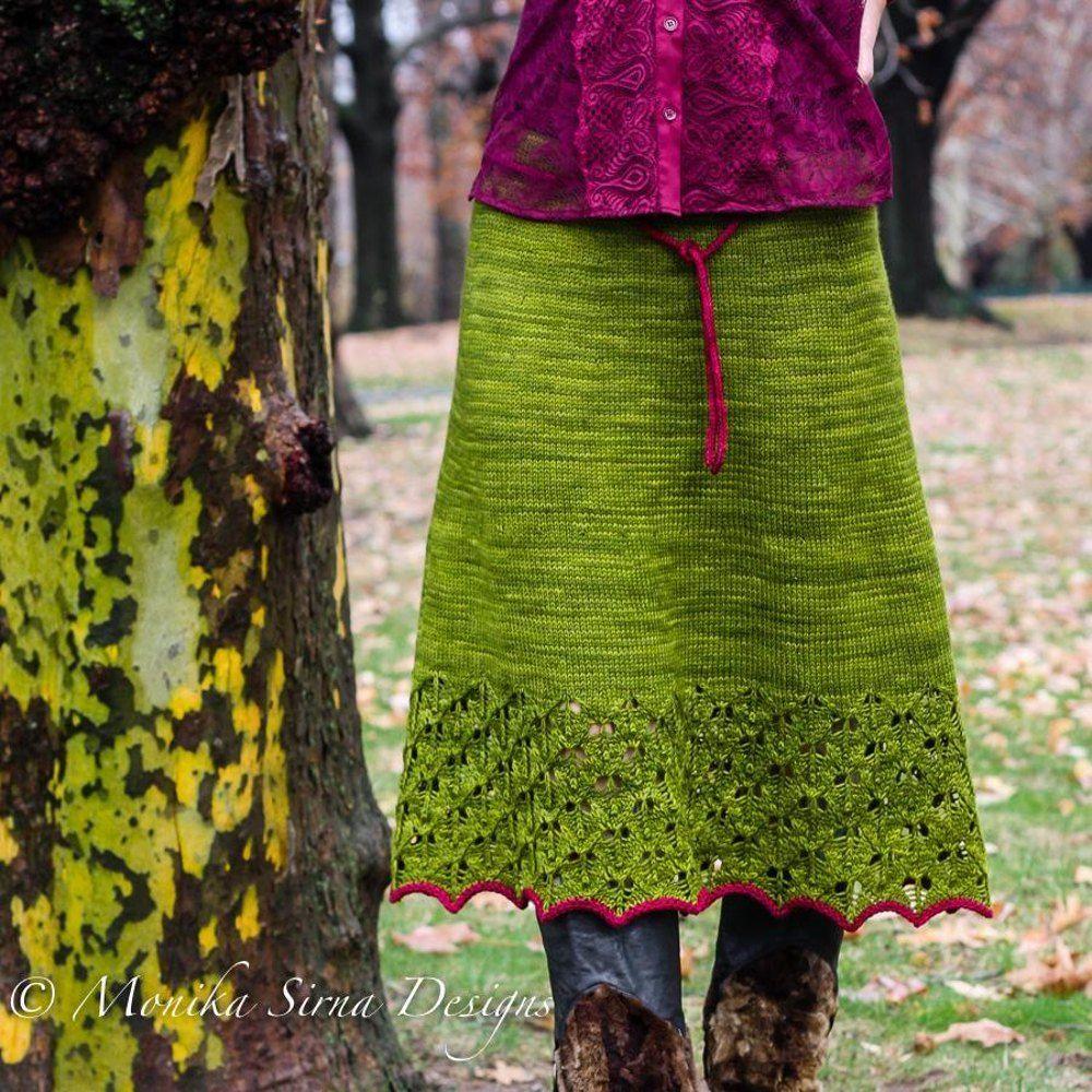 Autumn Foliage Knitting pattern by Monika Sirna #autumnfoliage