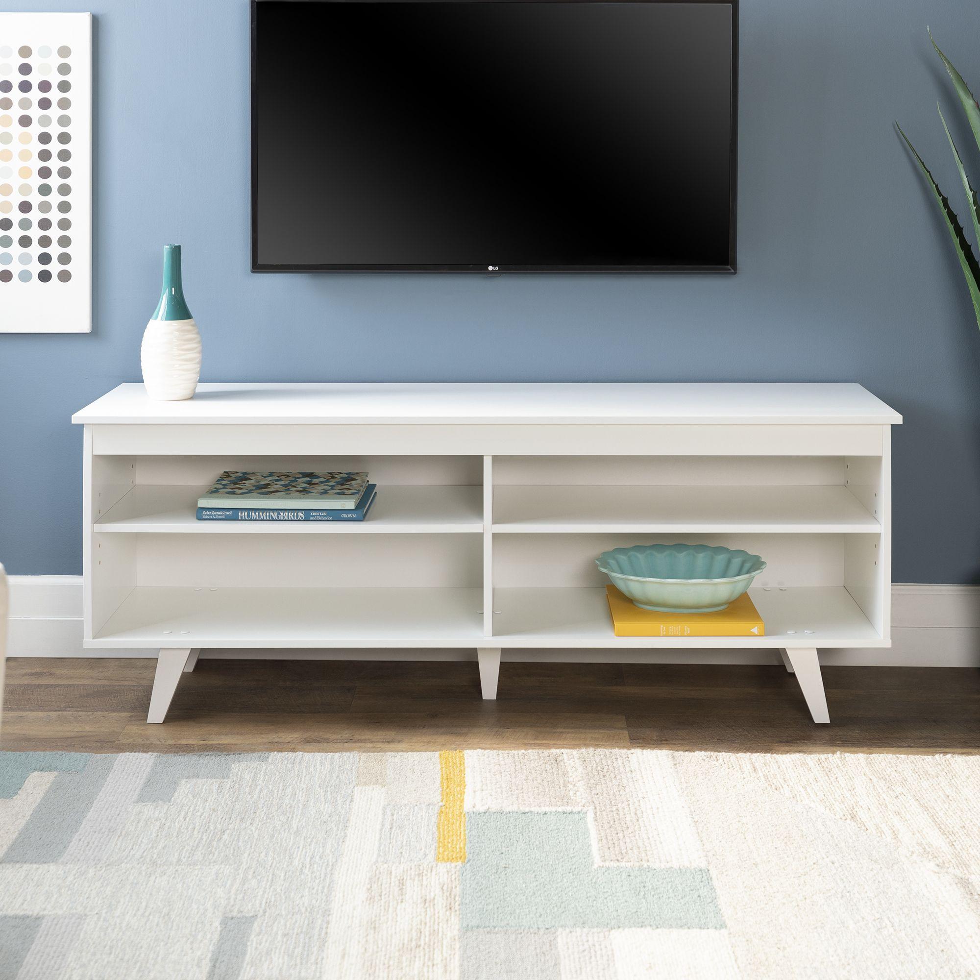 Selene Angled Leg Grey Tv Stand By Bellamy Studios Walmart Com Modern Tv Stand Mid Century Modern Tv Stand Tv Stand Console