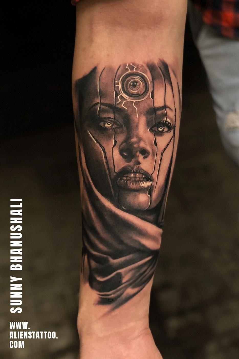 Best realistic portrait tattoos alien tattoo tattoos