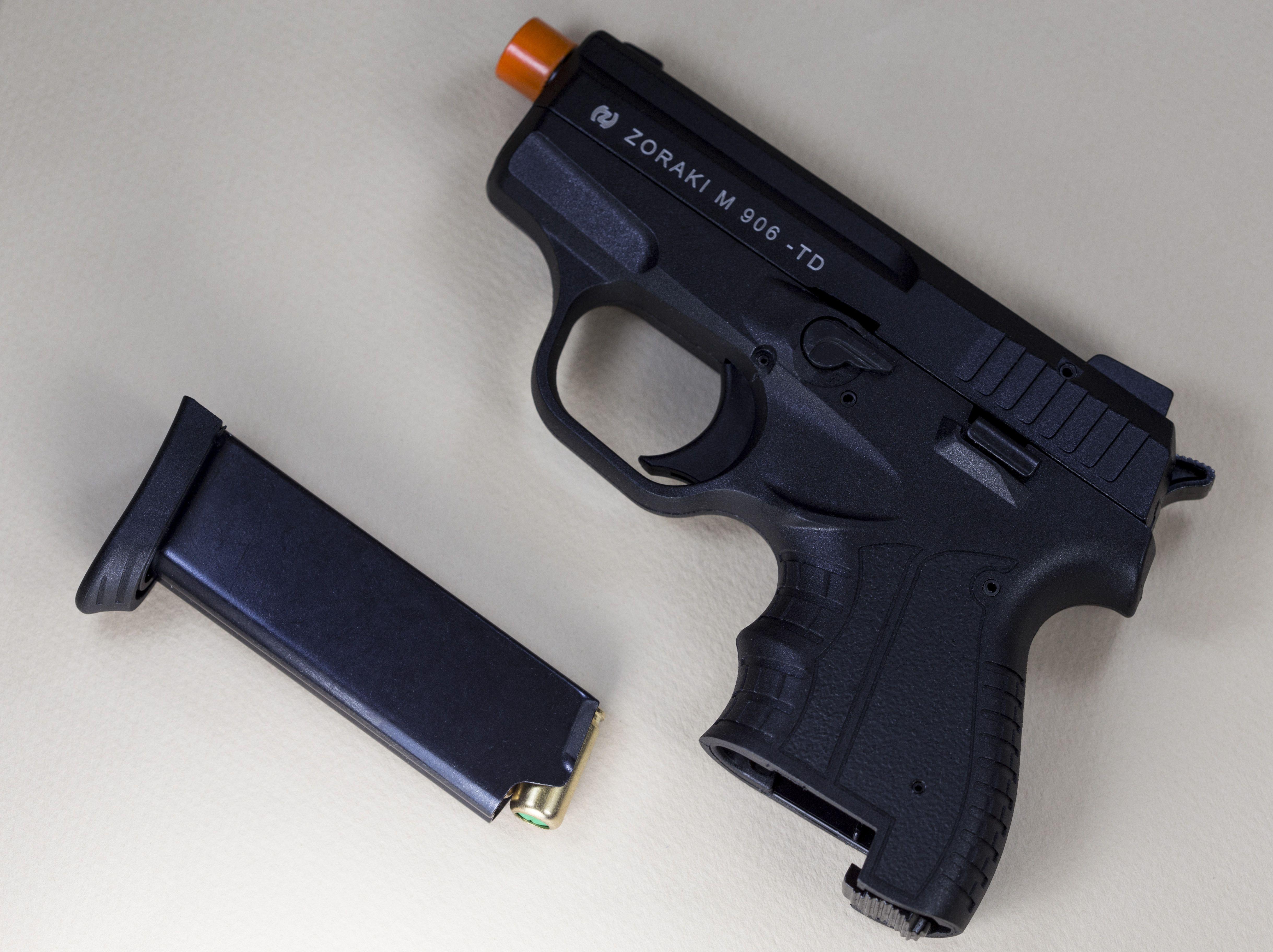 Pin on blank firing guns