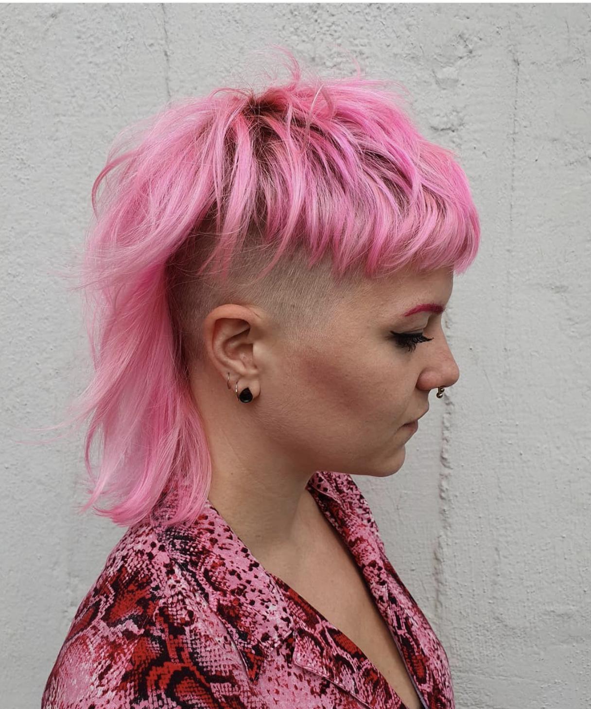 Pink Hair Mullet Is Back Mullet Hairstyle Punk Hair Hair Styles