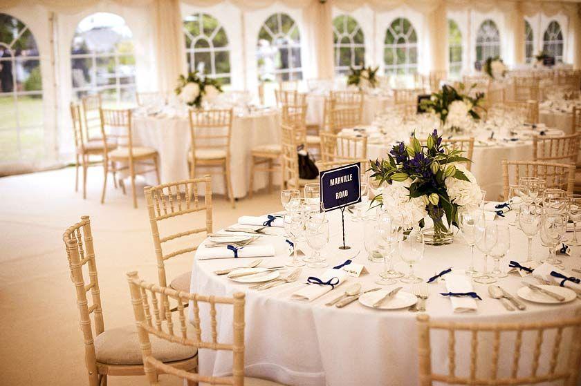 Marquee wedding reception case study centerpiece for Wedding reception centrepieces