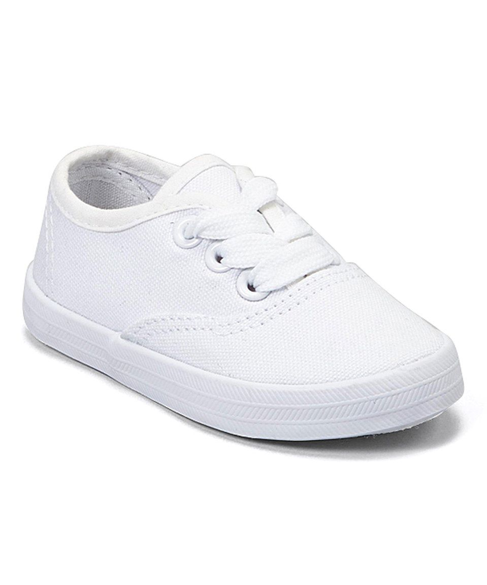 9bc00f57010 Another great find on  zulily! pitter patter White Canvas Sneaker by pitter  patter  zulilyfinds