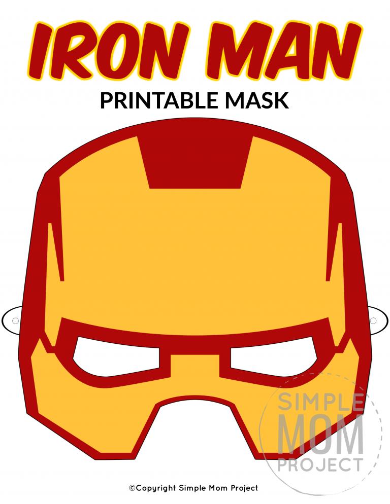 Pin On Superhero Mask Template