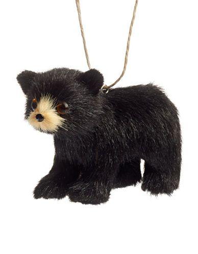 Home | Holiday | Fuzzy Black Bear Ornament | Hudson's Bay