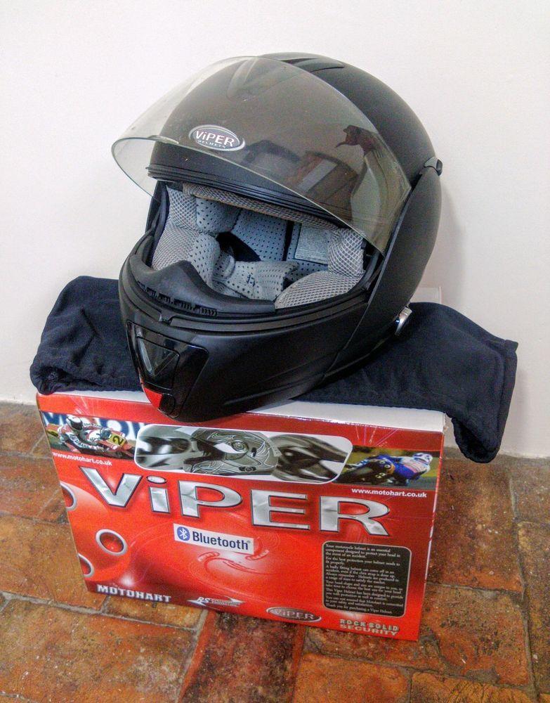 Viper Rs V121 Bluetooth Matt Black Motorcycle Helmet Boxed Size Small Black Motorcycle Helmet Motorcycle Helmets Helmet