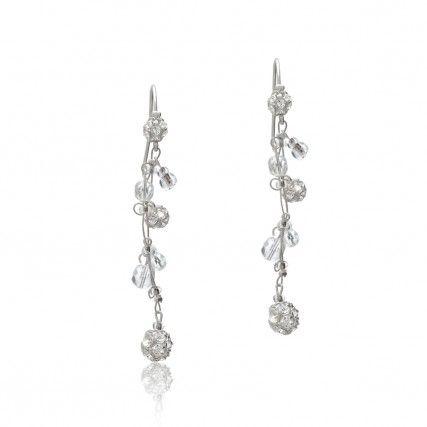 Brautschmuck ohrringe  Zart-funkelnde Brautschmuck Ohrringe mit Kristallen und Strass ...