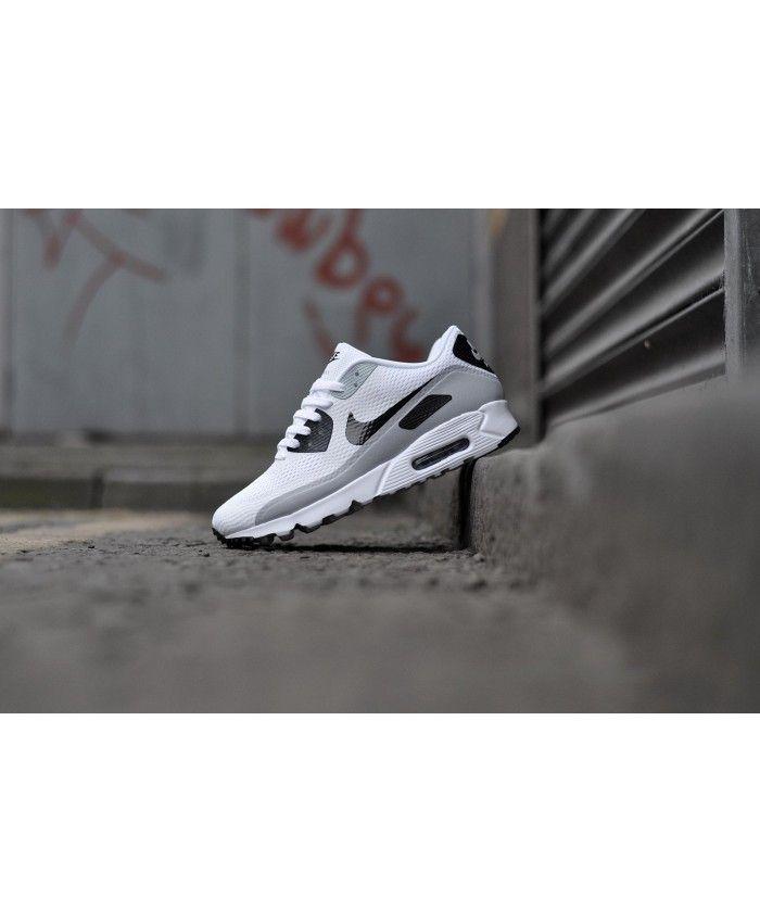 promo code 71e6b 295ba Nike Air Max 90 Ultra Essential Wolf Grey White Logo Shoes Sale Logo Shoes,  Cheap