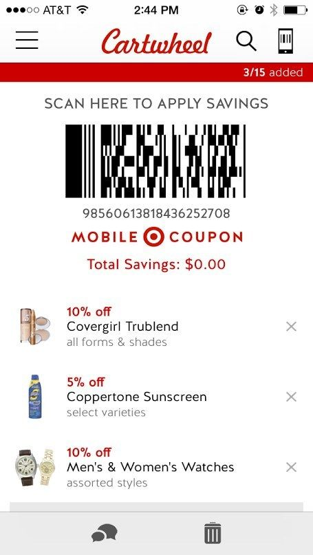 The Cartwheel app is a free app that Target recently
