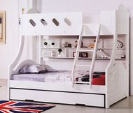Chloe Bunk Bed Double Single Features A Curved Head And Foot Board Joining The Top Bottom Bunks Making Style Very Unique