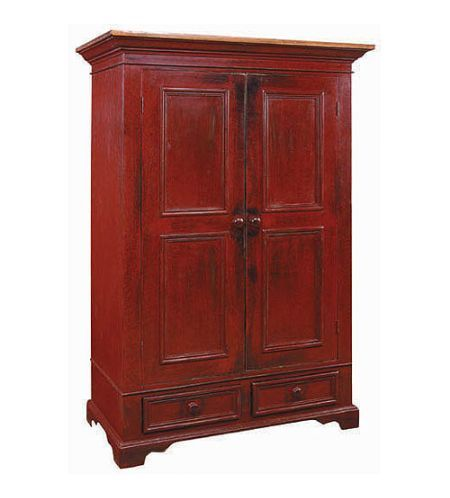 Garde Robe Armoire Wardrobe Armoire With Hanging Rod, Four Shelves, And  Lower Cabinet Drawers For Storage.