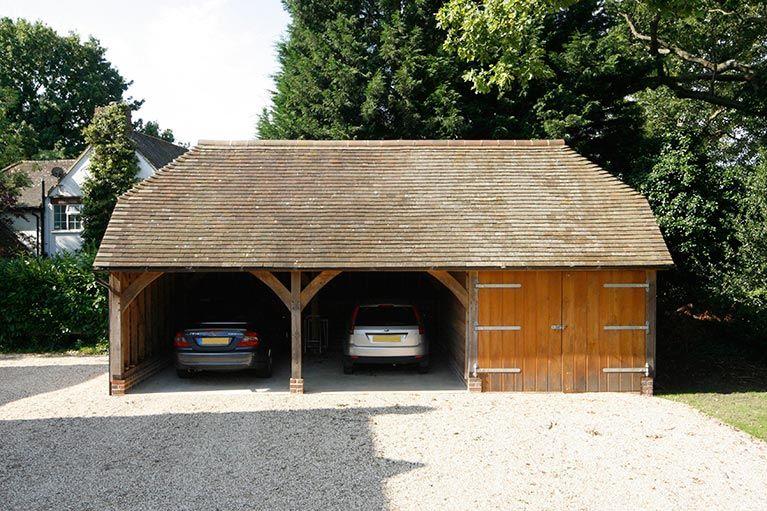 Oak Framed Garage Timber garage, Oak framed buildings