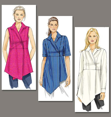 Vogue Patterns Misses Top And Tunic 8791 Tunic Pattern Shirt