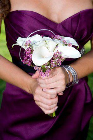 calla lilies + purple