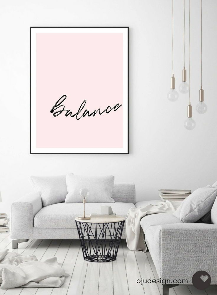 Pink Wall Art Bedroom Wall Decor Typography Print Quote Prints Pink Art Printable Quote Yoga Art Minimalist Art Digital Download Art is part of bedroom Aesthetic Modern - 1Jks4Ym