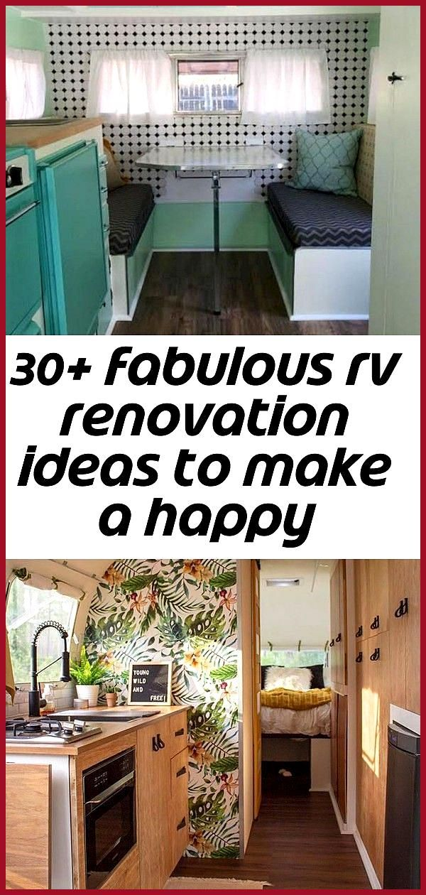 30 fabulous rv renovation ideas to make a happy campers 11 Stylish 30 Fabulous RV Renovation Ideas
