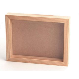 Unfinished Pine Shadowbox 8 X 11 Inches Wooden Shadow Box Wood Shadow Box Diy Shadow Box