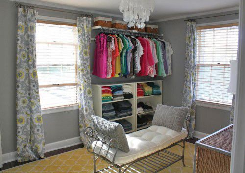 Do it yourself bedroom closets bedroom as dressing room - Room with no closet ...