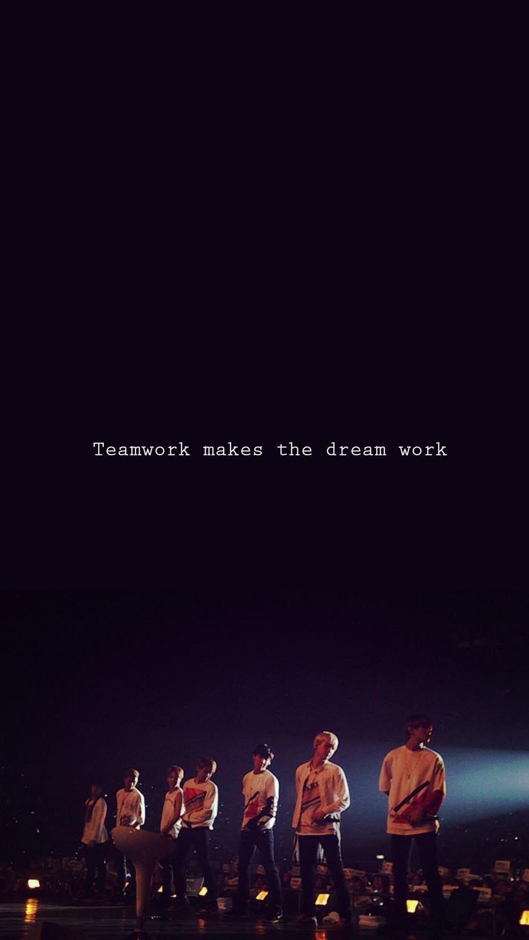 lovely bts teamwork makes the dream work dream