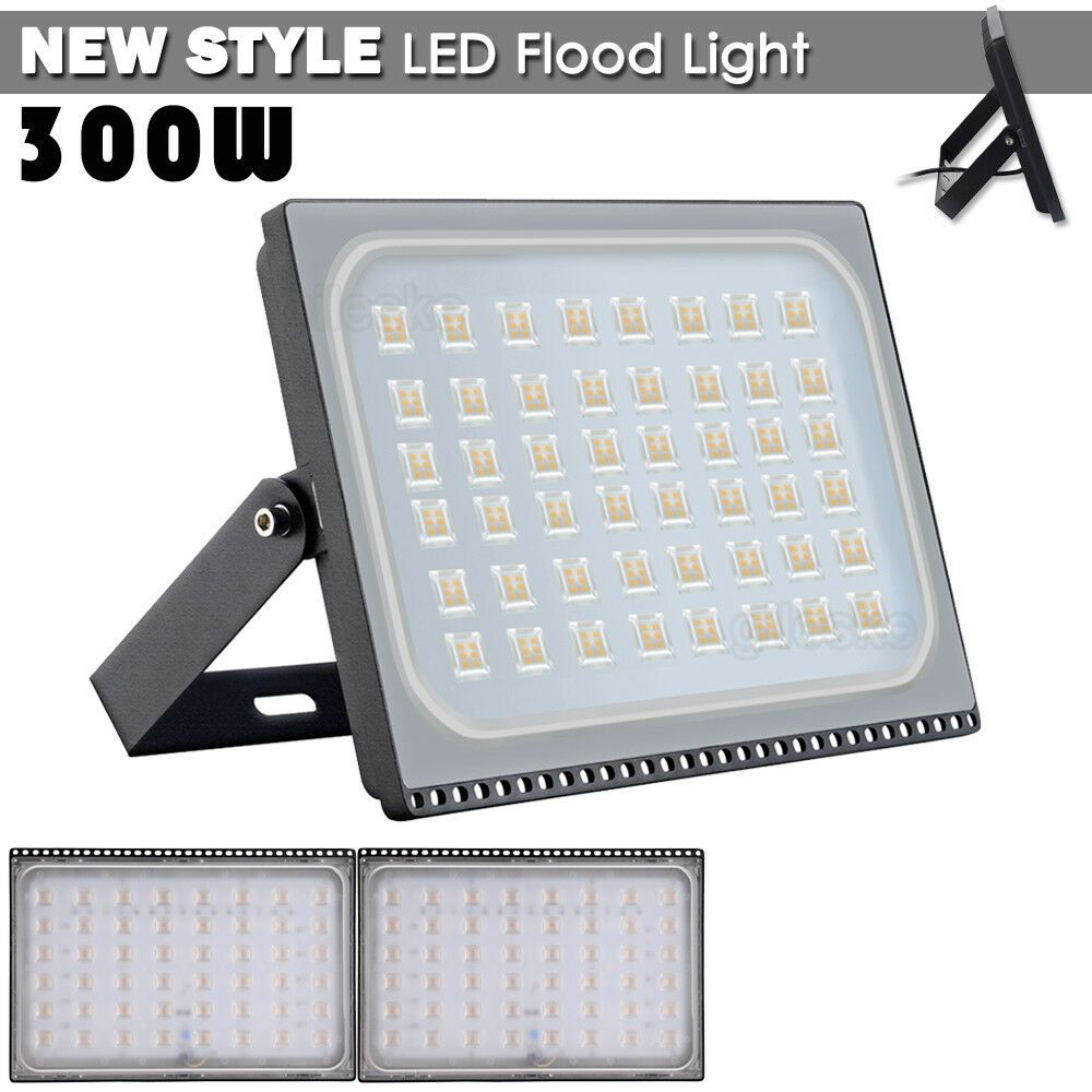 3x 300w Led Flood Light Warm White Outdoor Spotlight Garden Yard Lamp Led Flood Flood Lights Led Flood Lights