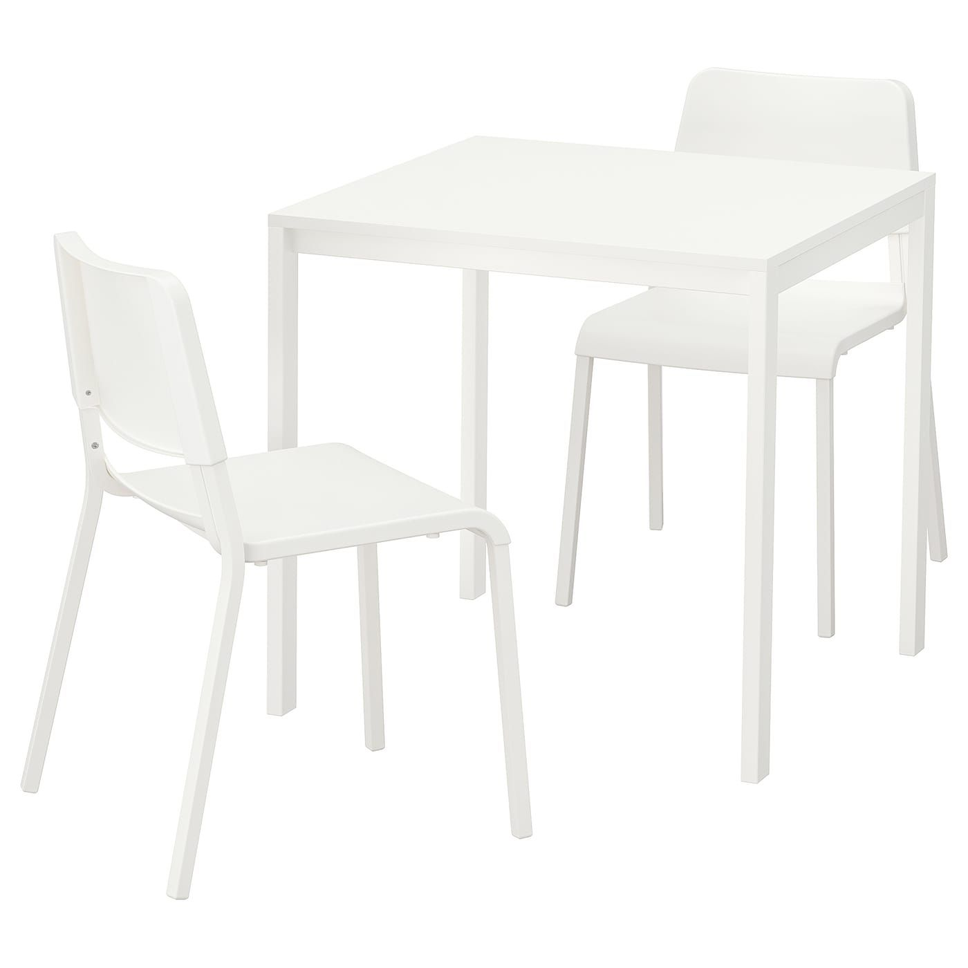 IKEA MELLTORP TEODORES White, White Table and 2 chairs