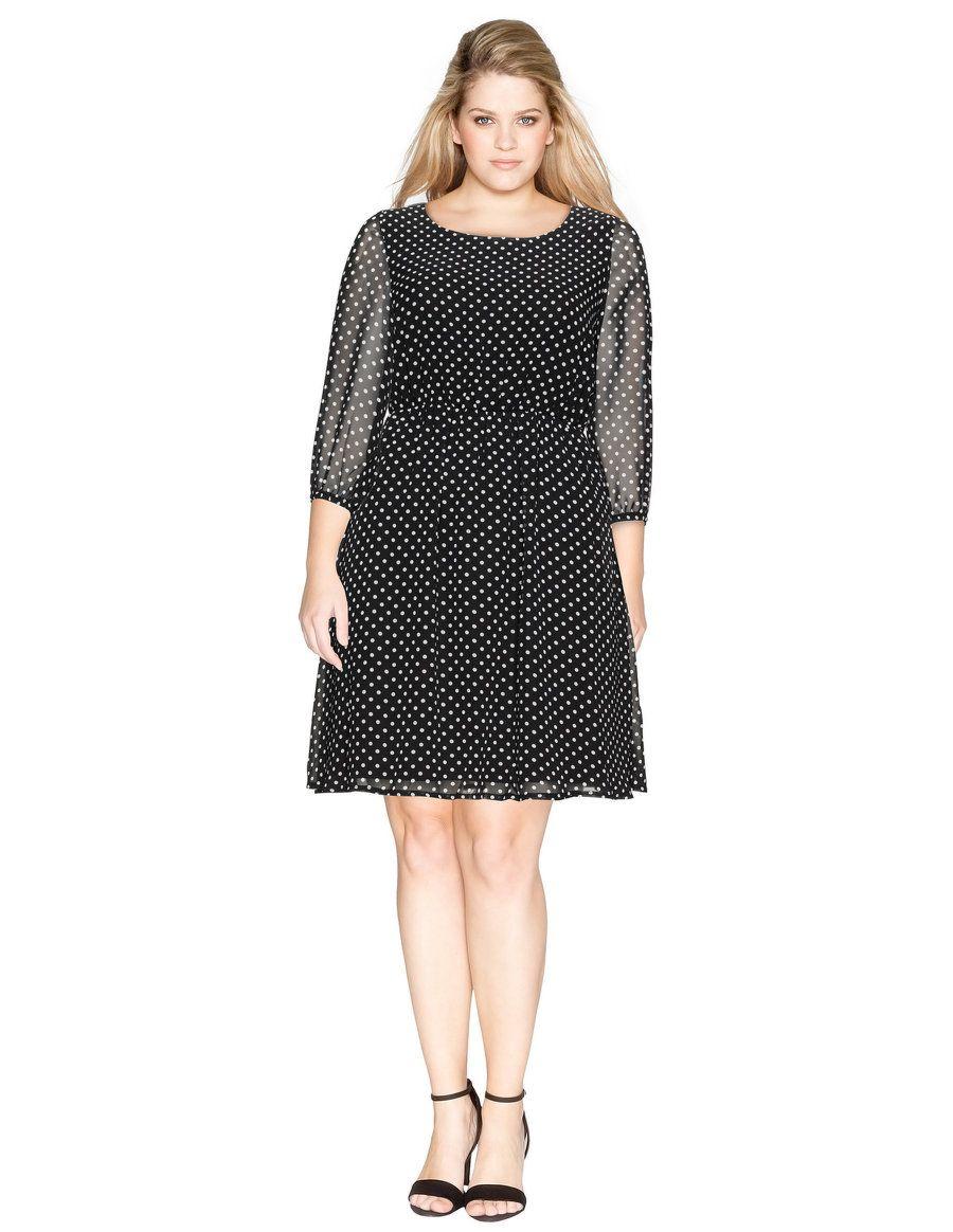 Lovedrobe A-Linien-Kleid mit Allover-Print in Schwarz / Weiß | für ...