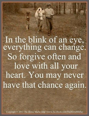in the blink of an eye..