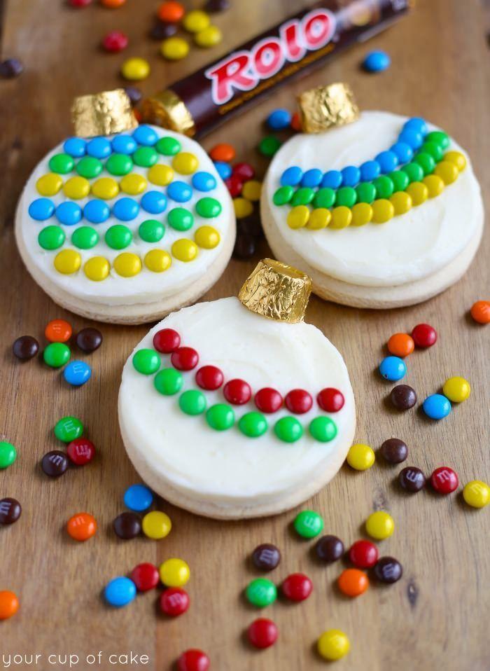 Adorable Ornament Sugar Cookies Christmas Pinterest Sugar