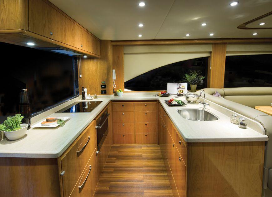 Riviera 53 Open Flybridge with IPS | Galley | Kitchen ...