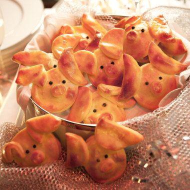 Gefüllte Glücksschweinchen - www.ostmann.de