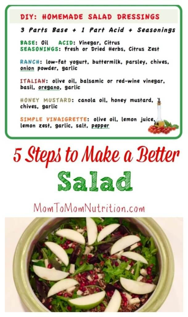 5 Steps To Building A Better Salad Mom To Mom Nutrition Good Healthy Recipes Nutrition Healthy Summer Recipes