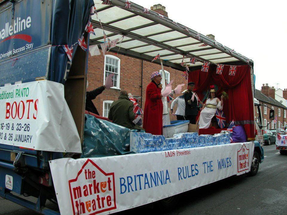 ABE Ledbury at the Ledbury Carnival 2012. Britannia rules the waves indeed!