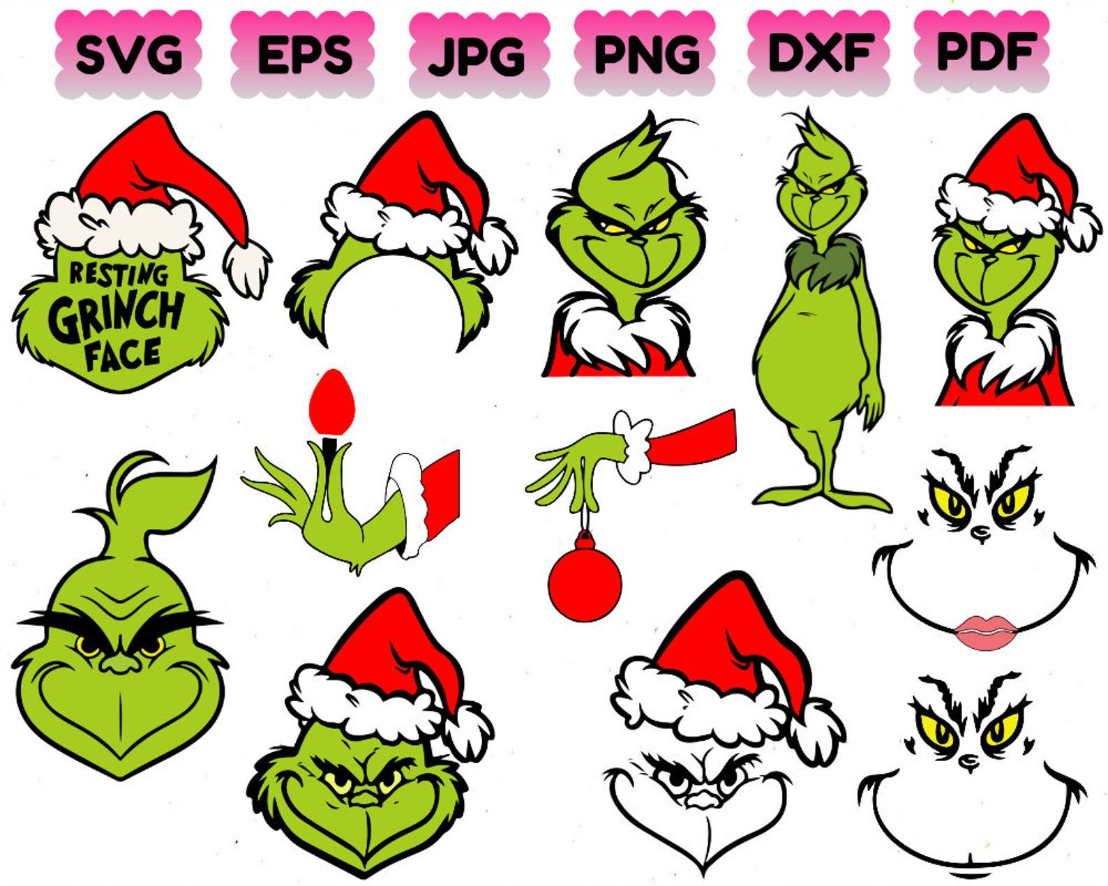 Grinch Christmas Svg Christmas Svg Santa Svg Grinch