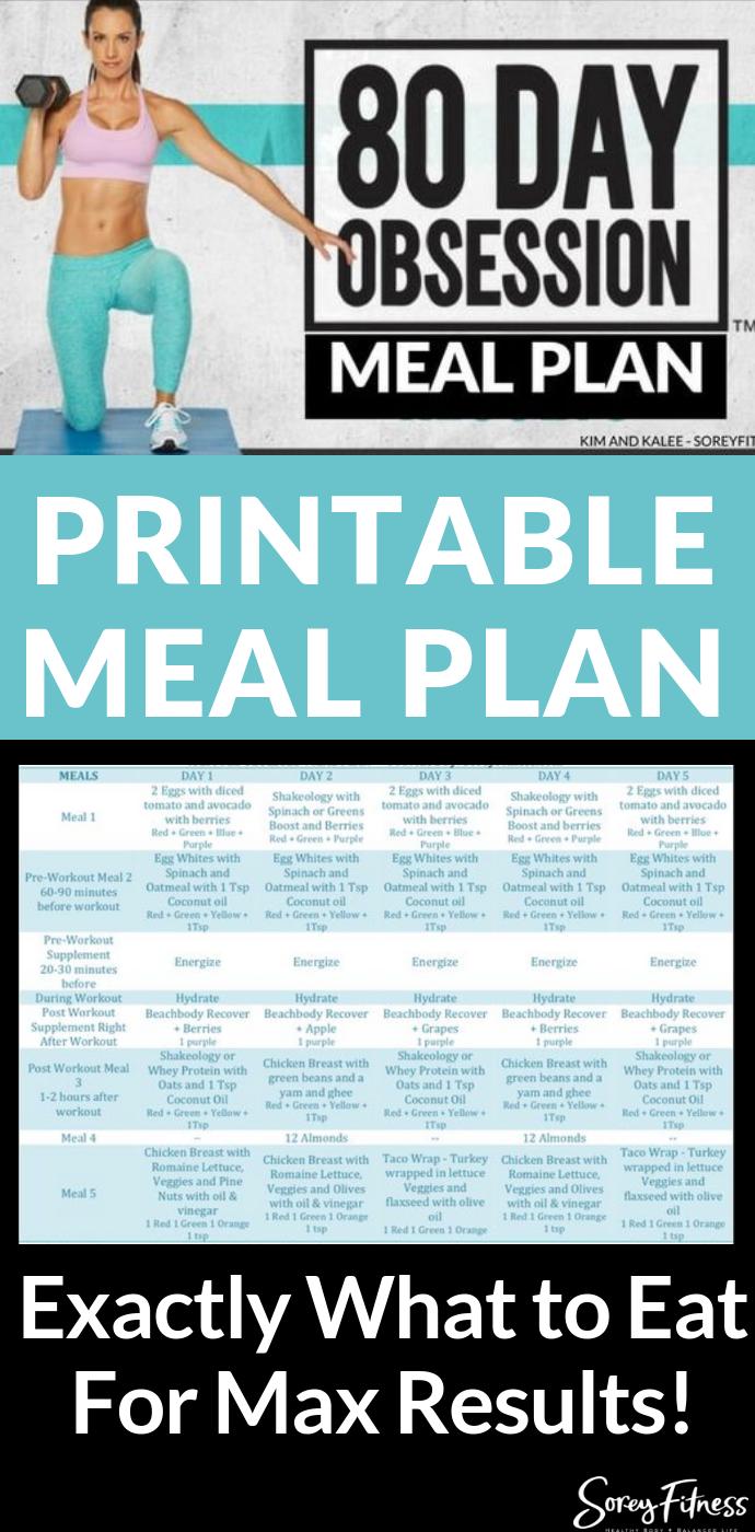 80 Day Obsession Meal Plan – Kostenloser Plan für die heutige Verwendung   – 80 Day Obsession – Autumn Calabrese