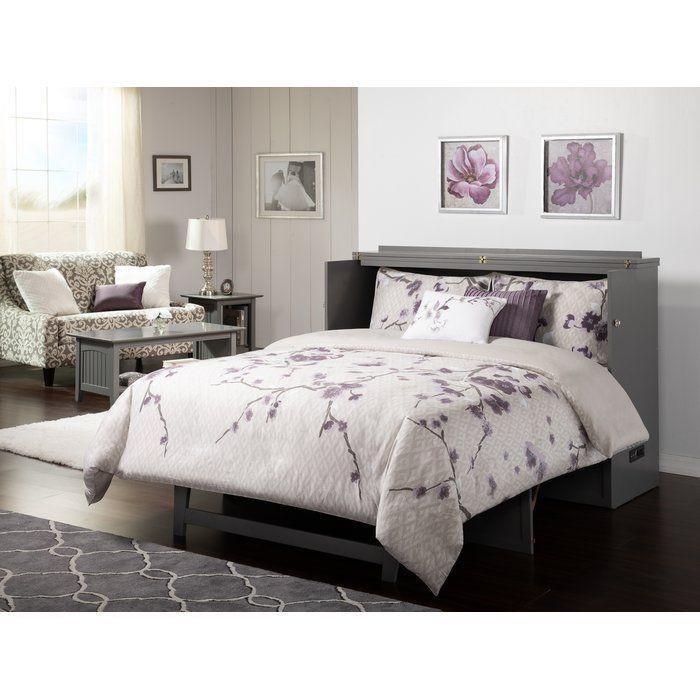 Kimsey Queen Storage Murphy Bed With Mattress Atlantic