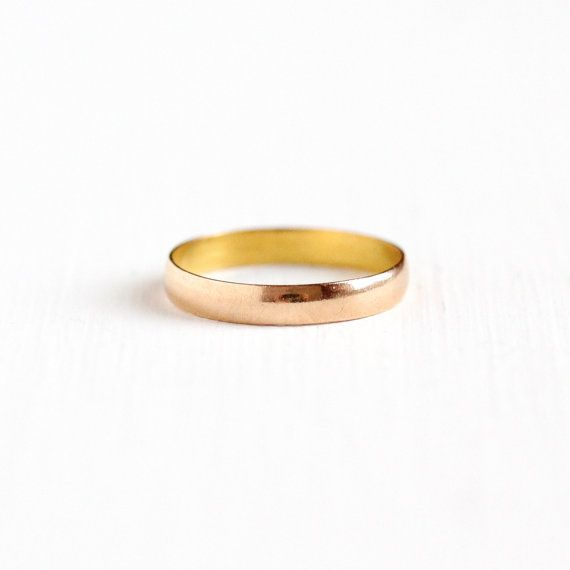 Antique Art Deco 10K Rosy Yellow Gold Ostby & Barton Ring