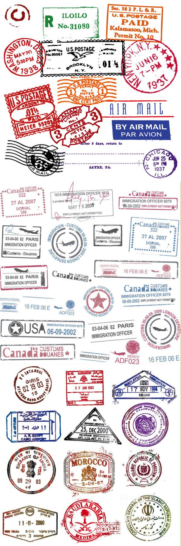 all the stamps I want on my passport :) | DIY | My Scrapbooking ...