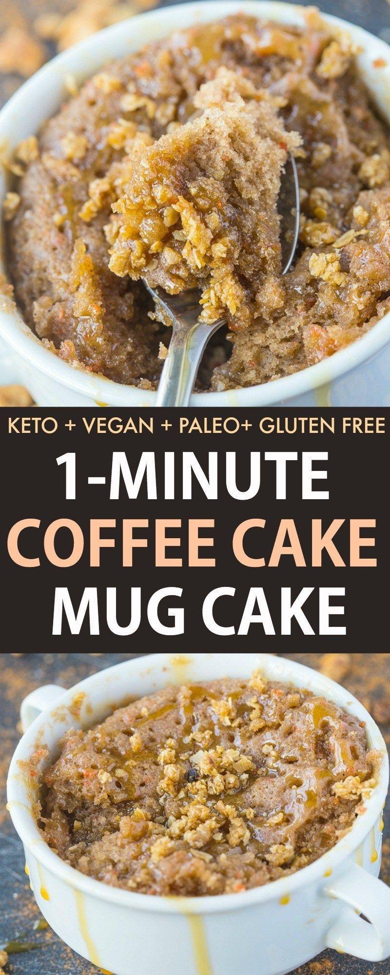 Keto coffee cake mug cake | Recipe | Vegan mug cakes, Mug ...