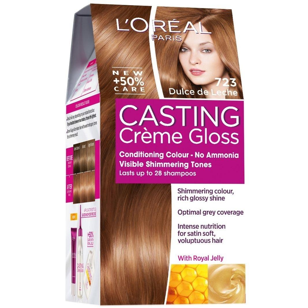 Loral Paris Casting Creme Gloss Hair Color No Ammonia 723 Milk
