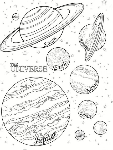 Free Printable Planet Coloring Pages For Kids Solar System Coloring Pages Planet Coloring Pages Space Coloring Pages
