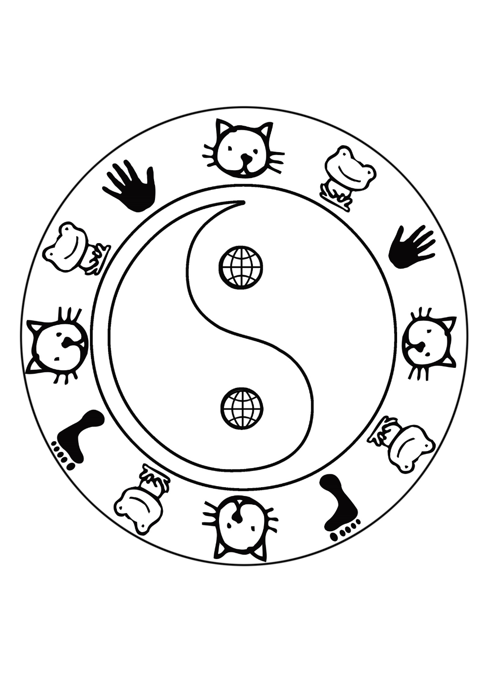 yin yang coloring pages with images coloring pages