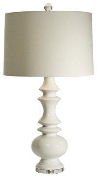 Transitional Natural Light Remy White Ceramic Table Lamp Contemporary Lamps