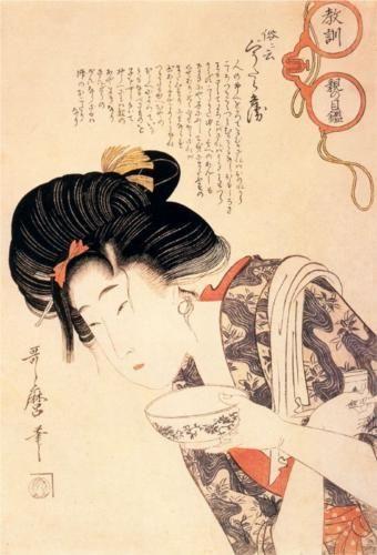 Middle Class Mother and Daughter - Kitagawa Utamaro #japanese #art